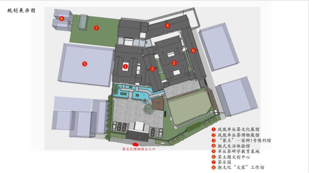 凤凰单丛茶博物馆规划展示图